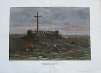 Heims ABENDFRIEDEN AUF DEM SCHLACHTFELDE 1916 1. Weltkrieg alter Druck old print