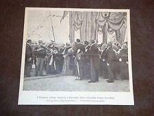 Sovrani d'Italia sbarcano a Cagliari Sardegna Anno 1899