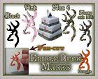Edible Buck Mark Wedding cake decal symbol camouflage sugar deer head sticker