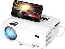 TOPVISION Mini Beamer LED Full HD 1080P Video Projektor kompatibel mit HDMI USB
