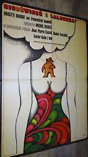 brigitte bardot L' OURS ET LA POUPEE  !  affiche cinema 1969 modele rare vintage