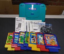 Vintage Sega Pico Game System Lot of 8 Games Tested Loads Up