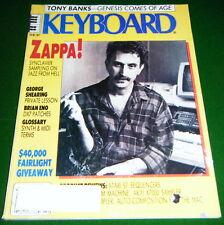 1987 FRANK ZAPPA, Tony Banks Genesis, DX7 Patches, Keyboard Magazine