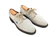 PARABOOT France Suede Leather Medallion Derby Shoe Ecru Tan Wingtip 9.5EU 10.5US
