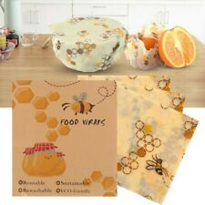 3Pcs Food Wax Paper  Beeswax Food Wraps Food Covers Reusable Wash Wrap Cover