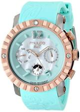 MULCO Unisex MW5-1876-413 Nuit Lace XL Analog Display Swiss Quartz Blue ***