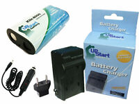 Battery + Charger + Car Plug + EU Adapter for Kodak Easyshare Z612, Z812IS
