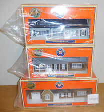 LIONEL 3 HOUSES HOMES O SCALE GAUGE ACCESSORY LOT TRAIN LAYOUT ESTATE LIGHTED