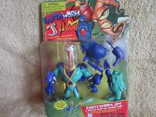 earthworm jim.special deep sea mission suit .playmates 1994.mint on card