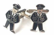 Británica Guardia Policía Esmalte Escudos Gemelos (N169) Regalo en Caja