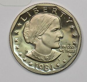 1981-S Susan B Anthony Dollar proof 103935 *SFCOIN