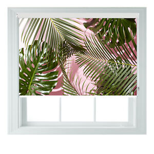 Tropical Palm Leaves 3D Print Photo Black Out Roller Blinds Various Sizes 2345ft