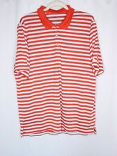 Adidas Mens Red Striped Polo Shirt Short Sleeve Size Xl