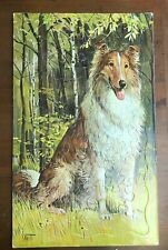 Springbok SAM SAVITT Dog Collie Puzzle 1960s Litho 12 x 20