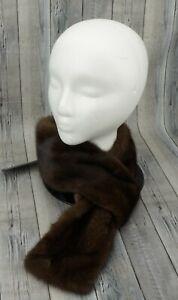 🔥KARL LAGERFELD Genuine Mink Fur Stole Scarf Sagafurs Saga $750 MSRP🔥