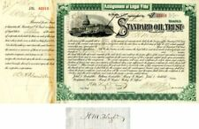 Standard Oil Trust issued to and signed by H.M. Flagler