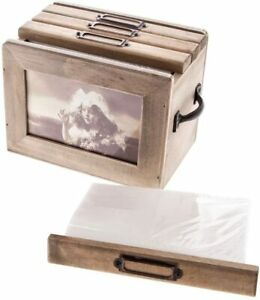 Picture/Photo Storage Box - Wooden/Rustic - Photos De Famille (Family)