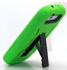 for Samsung galaxy S3 green 2 layer case kick stand soft hard hybrid  / S III