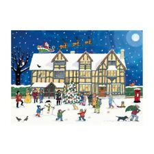Alison Gardiner Noël à L'Ancien Ville Maison Calendrier de L'Avent Carton