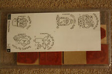 Stampin' Up! Nice & Easy Notes Set of 8 Rubber Stamps