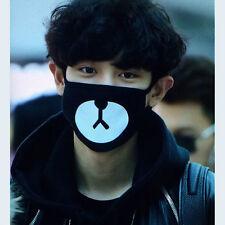 1pc Unisex Cute Bear schwarze Mund-Maske Bär Printed Cotton Mask