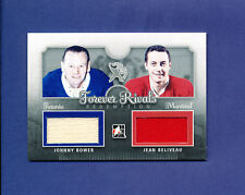 2012 ITG FOREVER RIVALS DUAL JERSEY redemption JOHNNY BOWER/ JEAN BELIVEAU 8/19