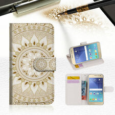 White Aztec Tribal Wallet Case Cover for Samsung Galaxy J5 Prime- A006