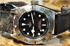 Tudor Black Bay Steel 41mm Automatic on Aged Leather model 79730 Box Papers Card