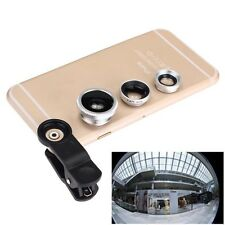 For iPhone 5G 4S 4 6 Plus B BG 3 in 1 Fish Eye +Wide Angle Micro Lens Camera Kit