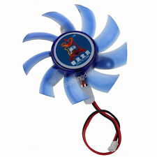 Mute Blue PC 2Pin 80 mm 8CM CPU VGA Heatsink Cooller Fan