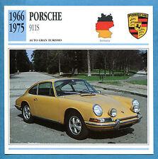 SCHEDA TECNICA AUTO DA COLLEZIONE - PORSCHE 911S 1966-1975