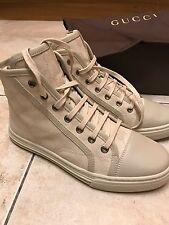 Women's GUCCI High Top Sneaker Bianco / Crema Taglia 4