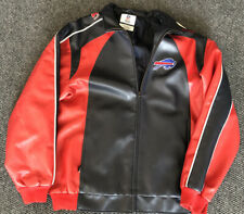 Vintage Buffalo Bills Coat Jacket Mens Medium Polyvinyl Chloride Shell NFL COAT