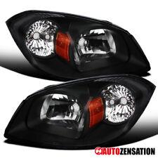 For 2005-2010 Chevy Cobalt 2007-2009 Pontiac G5 Black Clear Headlights Lamp Pair