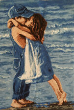 cross stitch completed finished first kiss Free Shipping