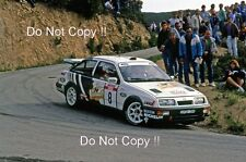 Didier Auriol Ford Sierra RS Cosworth Tour De Corse Rally 1988 Photograph 2