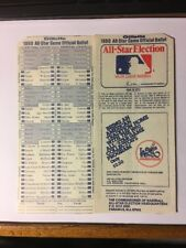 1980 MLB All-Star Baseball Game Unused Fan Ballot At Dodger Stadium
