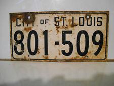 plaque immatriculation usa city of st louis license plate old ancienne emaillé