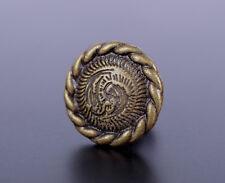 50PC 12MM Brass Rope Flower Conchos Leathercrafts Stud Rivet Tacks Decorative