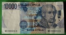 1984 ITALY 10000 LIRE BANKNOTE - VF - MD 900255 S