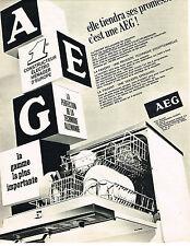 PUBLICITE ADVERTISING 074  1969  AEG   lave  vaisselle