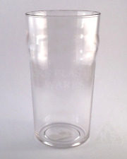 2x Polycarbonate Beer Pint 568ml Plastic Drinkwares Glass Cups DELIVERED