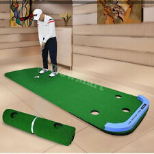 Portable Golf Practice Putting Green Mat Synthetic Grass Turf Fairway 1x3m