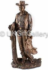 Cold Cast Bronze Resin Sculpture Large Statue Cowboy Ornament 33cm John Wayne