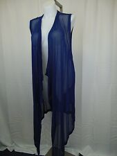 Melissa McCarthy Seven7 Plus Size Draped Illusion Duster 3X Twilight Blue #4044