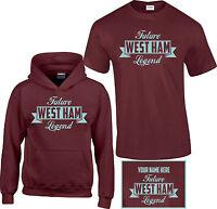 West Ham, Kids,Childrens,Boys, Football,T Shirt, Hoodie, Personalised Free FL