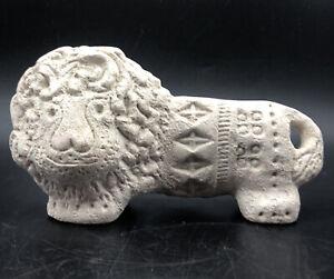 Bitossi Italian Unglazed Pottery Lion Figurine: Flavia Montelupo Italy