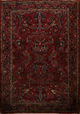 Antique Floral Classic Sarouk Area Rug Traditional Hand-Made Oriental Carpet 3x5
