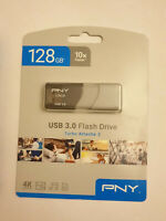 PNY Turbo 128GB USB 3.0 Flash Drive - P-FD128GTBOP-GE NEW SEALED