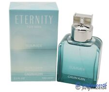Eternity Summer 2020 By Calvin Klein 3.3/3.4oz. Edt Spray For Men New In Box